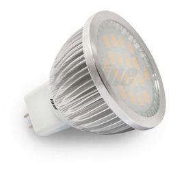Żarówka / Halogen LED 18 SMD MR16 12V DC/AC 5,5W biała ciepła CCD