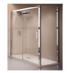 Drzwi prysznicowe przesuwane Novellini Kuadra 2P 144-150 cm lewe, profil chrom, szkło przeźroczyste KUAD2P144S-1K