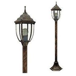 Zewnętrzna LAMPA stojąca NIZZA 8455 Rabalux IP43 OPRAWA ogrodowa SŁUPEK outdoor złoto antyczne
