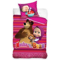 Dziecięca Pościel bawełniana Masza i niedźwiedź, 140 x 200 cm, 70 x 90 cm