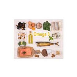 Foto naklejka samoprzylepna 100 x 100 cm - Jedzenie bogate w kwasy tłuszczowe omega-3