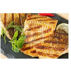 Naklejka Grillowane filety z karpia