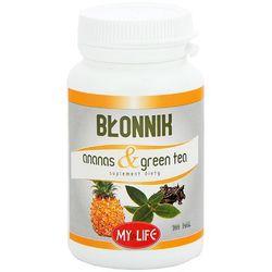 MY LIFE 100 tabletek Błonnik ananas&green tea suplement diety