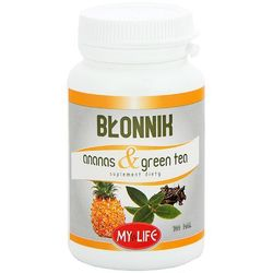 MY LIFE 100 tabletek Błonnik Ananas & Green Tea suplement diety