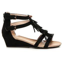 Sandały boho style Angela - czarny