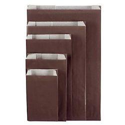 Czekoladowa torebka papierowa na prezent 240x390x75 mm