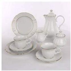 Zestaw do kawy dla 12 osób porcelana Apulum Julia Gold