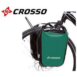 CO1010.30.86 Sakwy rowerowe Crosso DRY SMALL 30l Zielone zestaw na tył / przód
