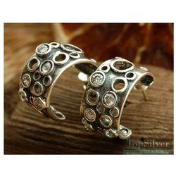 VULCANO - srebrne kolczyki z kryształkami