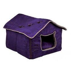 Hilla- Legowisko dla kota - fioletowe lub beżowe