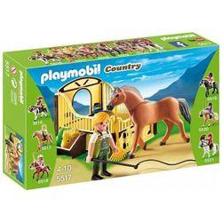 Playmobil COUNTRY Koń fiordzki z brązowo-żółtym boksem stajennym 5517