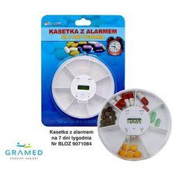 Kasetka na leki - tygodniowa z alarmem, 1 pora dnia, 5 alarmów BLOZ 9071084.