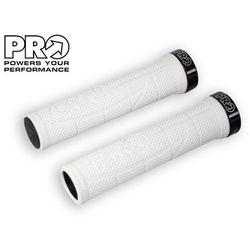 PR372082 Chwyty kierownicy PRO XCR 130 mm, białe, czarne klamry