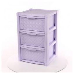 Regał szafka komoda 3 szuflady Arianna fiolet