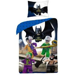 Halantex Dziecięca pościel bawełniana Lego Super Heros, 140 x 200 cm, 70 x 90 cm
