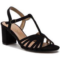 Sandały SAGAN 3198 Granatowy Welur