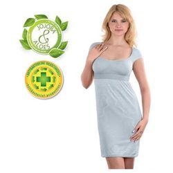 Babyono - Koszulka nocna dla matek karmiących - szara - XL