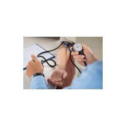 Foto naklejka samoprzylepna 100 x 100 cm - Lekarz mierzy ciśnienie u pacjenta