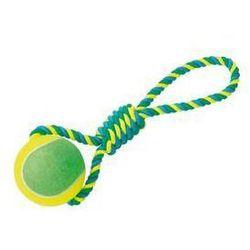 Zabawka dla zwierząt Nobby Rope Toy XXL 10cm piłeczka tenisowa do aportowania Niebieska/Żółta/Zielona