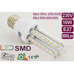 ŻARÓWKA energooszczędna 52 LED 10W=100W E27 CIEPŁA
