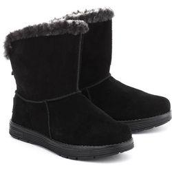 SKECHERS 4Adorbs - Czarne Zamszowe Śniegowce Damskie - 8627/BLK
