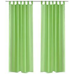 vidaXL Zasłona na szelkach, prześwitująca, zielona, 140 x 175 cm, 2 sztuki Darmowa wysyłka i zwroty