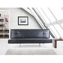 Rozkladana sofa czarna ruchome podlokietniki BRISTOL