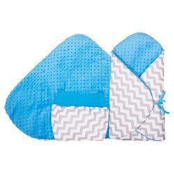 Glück Baby, Rożek niemowlęcy z kieszenią kangaroo, Zygzak-Minky, Niebieski Darmowa dostawa do sklepów SMYK