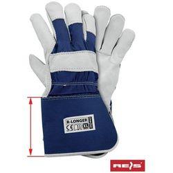 Rękawice robocze wzmacniane skórą licową R-LONGER