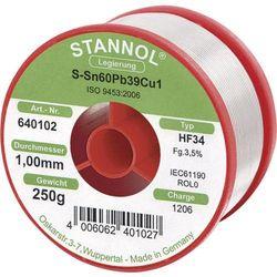 Cyna lutownicza z ołowiem Stannol 580143 Sn60Pb40 1.0 mm 1000 g
