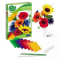 Polne Kwiaty z bibuły do robienia - zestaw kreatywny dla dzieci