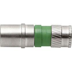 Złącze CFS 99-48 Axing CFS 99-48 Wtykany Gniazdo F Zaciskane za pomocą odpowiedniego narzędzia Srebrny, Zielony