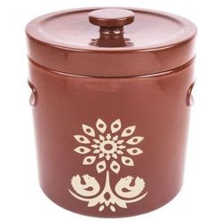 Pojemnik ceramiczny BIOWIN 770504 Brązowo-Kremowy (4.4 litra)