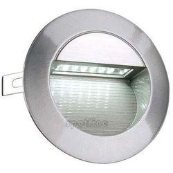 Zewnętrzna LAMPA ścienna DOWNUNDER LED 14 230301 Spotline ogrodowa OPRAWA wpust IP44 outdoor aluminium szczotkowane