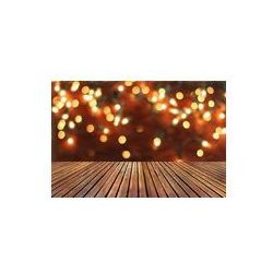 Foto naklejka samoprzylepna 100 x 100 cm - Boże Narodzenie w tle z pustym pokładzie drewniany stół