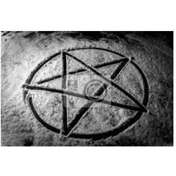 Plakat Pentagram zbliżenie zdjęcie