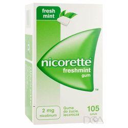 Nicorette Freshmint Gum, gumy do żucia, 2 mg, 105 szt