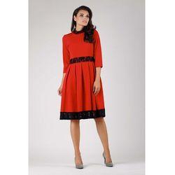 18732a159a suknie sukienki czarno biala rozkloszowana zwiewna sukienka z ...