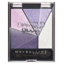 Maybelline Diamond Glow poczwórne cienie do powiek nr1 Purple Drama