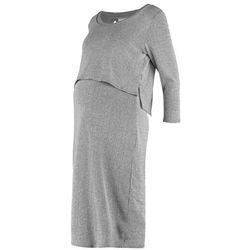 Mama Licious MLMELOW JUNE Sukienka z dżerseju medium grey melange