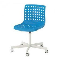 SKALBERG / SPORREN Krzesło obrotowe, niebieski, biały
