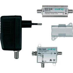 Wzmacniacz sygnału telewizyjnego Axing BVS 10, zawierający zasilanie