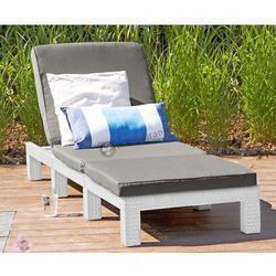Leżak Daytona plażowy składany biały