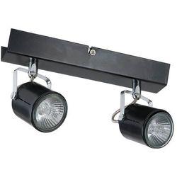 LOFT - Listwa z 2 lampami punktowymi Czarna