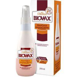 Biovax Nutriquick, odżywka dwufazowa, bez spłukiwania, włosy suche/zniszczone, 200 ml
