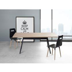 Stół czarny - 180 cm - kuchenny - do jadalni - FLOW