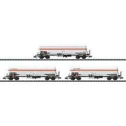 Wagon towarowy Minitrix T15302, cysterna z SNCF, 3 szt., skala N