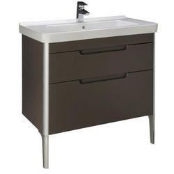 Zestaw łazienkowy Unik 85 cm z 2 szufladami Roca Dama-N A851048373 Taupe mat