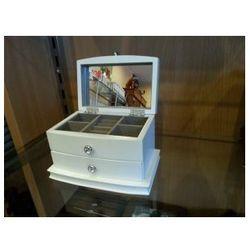 Szkatułka na biżuterię kuferek biały WY6257W