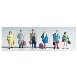 Figurki pasażerów w skali H0, malowane, 6 szt.